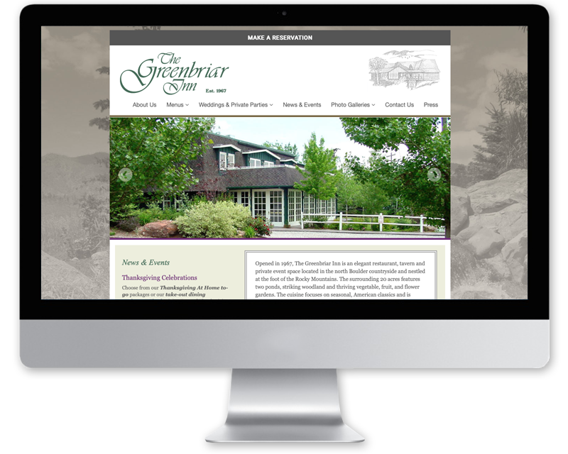 The Greenbriar Inn • Website Design