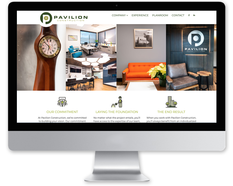 Pavilion Construction • website design