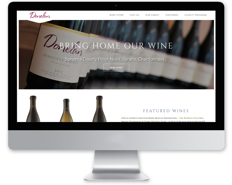 Donelan Wines • website design
