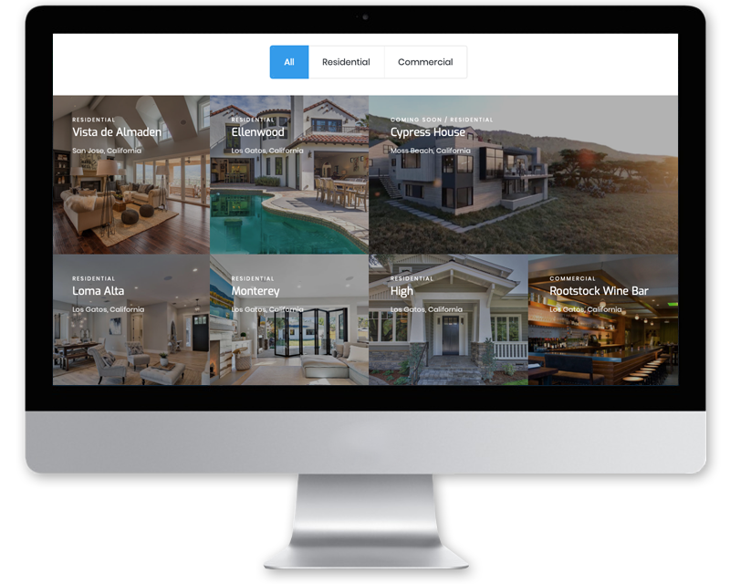 Peninsula Builders + Development • website design