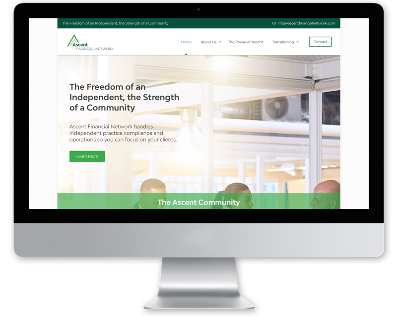 Ascent Financial Network • website design