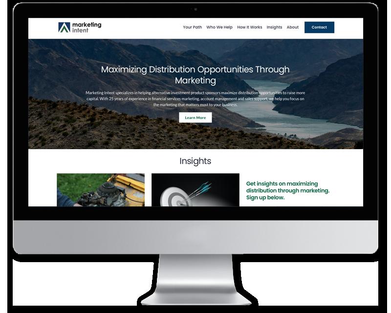 Marketing Intent • website design
