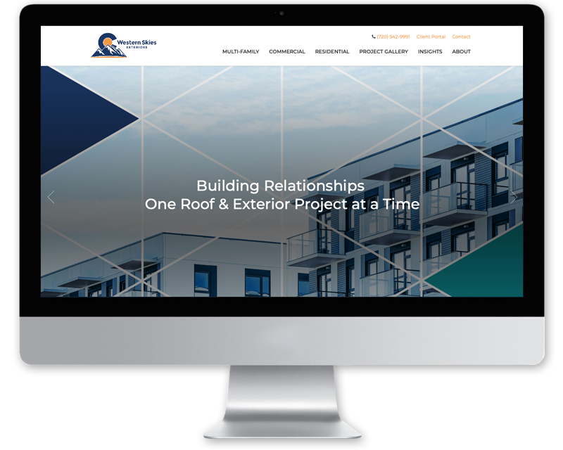 Western Skies Exteriors • Website Design
